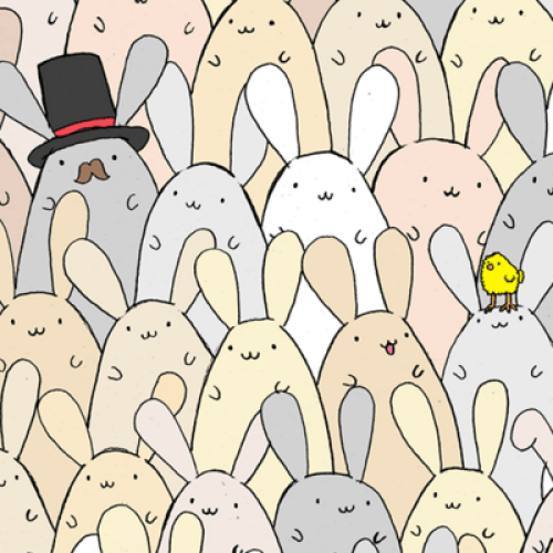 Can You Spot The Easter Egg Among The Bunnies?