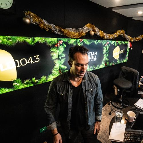 Take A Peek Inside Christian's Christmas Studio