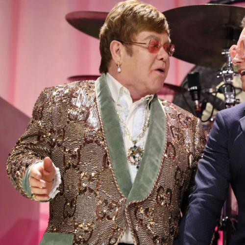 See Elton John & Rocketman Star Taron Egerton Sing Together