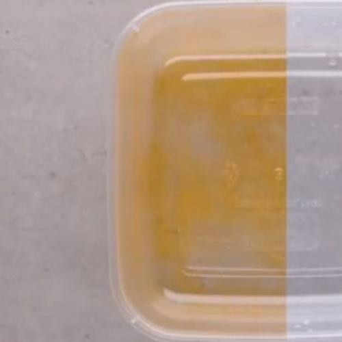 This Genius Hack Will Save Your Yellow-Stained Containers