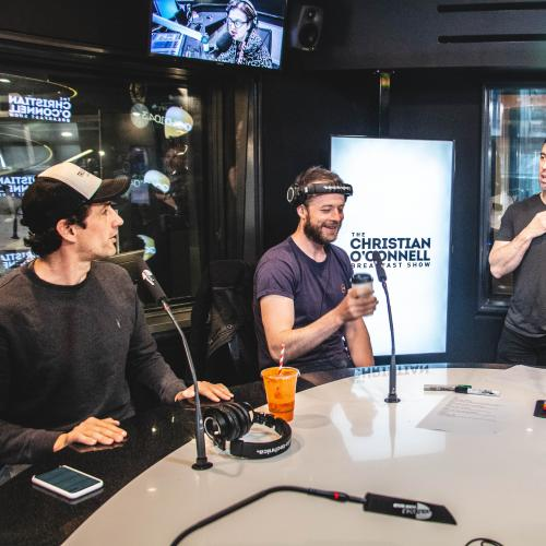 Hamish & Andy Join Christian O'Connell In Studio