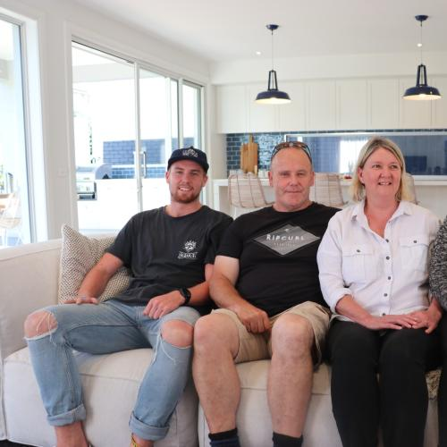 Royal Melbourne Hospital Home Lottery Winners Visit New Home