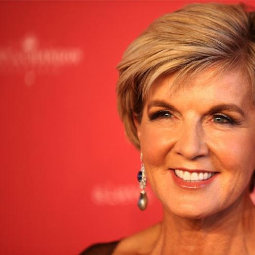 Julie Bishop Endorses Amanda To Win The Gold Logie