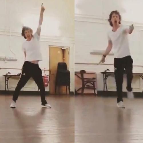 Mick Jagger Shows Off His Latest Dance Routine