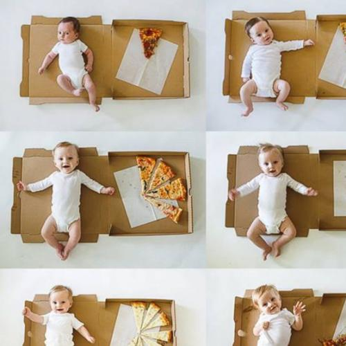Mum Uses Pizza To  Mark Son's Age Milestones & Hello Goals!