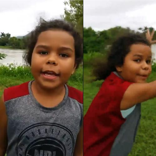 Best weather report ever! Kaitlyn's Townsville floods video