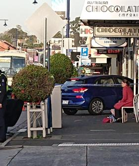 A Car Has Rammed Into A Shop In Ivanhoe This Morning