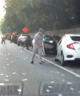 Motorists Stop Traffic To Grab Cash Flying Out Of Truck