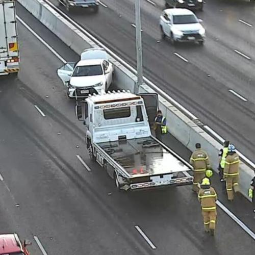 Traffic Chaos After A Truck Crash On The Tullamarine Freeway