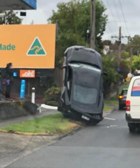 Footage Emerges Of Melbourne Woman Driving Mustang Up A Street Pole