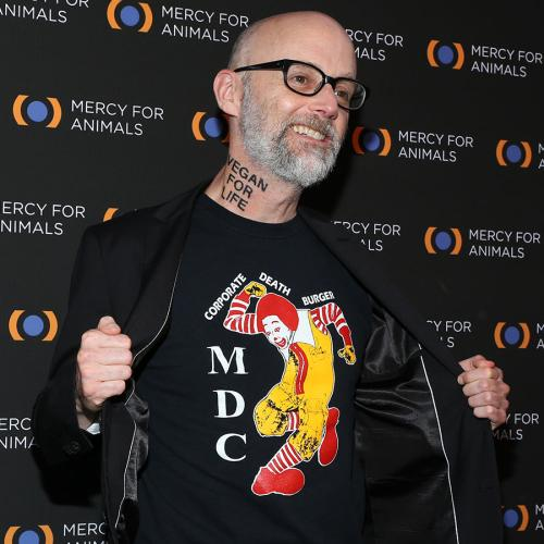"""Moby Gets """"Vegan For Life"""" Tattooed On His Neck"""