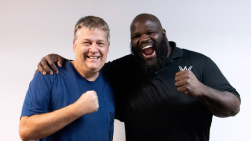 Huggy with WWE Legend Mark Henry