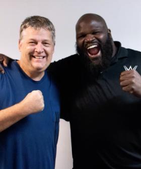 Huggy with WWE Legend Mark Henry