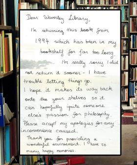 """""""I'm Really Sorry"""": Library Book Returned 25 Years Late With Apology"""