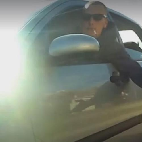 Car Passenger Taps Cyclist On The Bum While Smoking A Ciggie