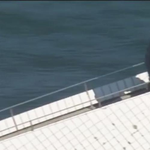 Jackie Chan Films Amazing Fight Scene On Top Of Opera House