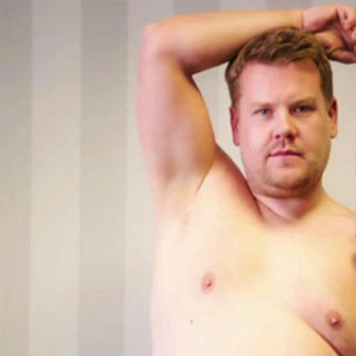 James Corden Gets Nude Kim Kardashian Style