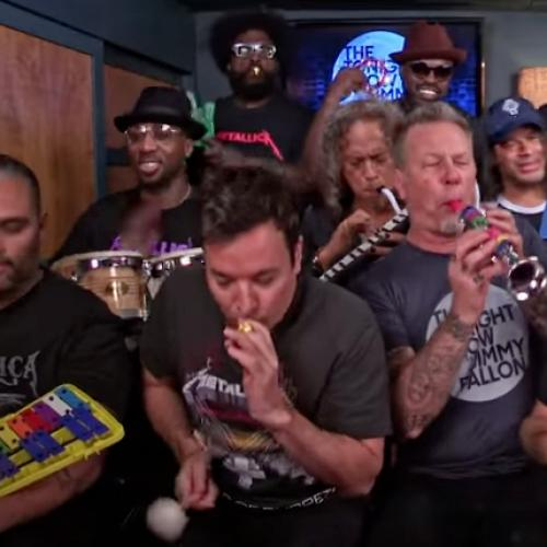 Metallica Play 'Enter Sandman' With Kid's Instruments