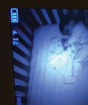 Mum Left Terrified After She Sees A 'Ghost Face' Smiling Back At Her On Her Baby Monitor