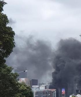 Massive Fire Erupts At Auckland's Tallest Building