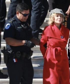 Jane Fonda Arrested At Climate Change Protest In Washington DC