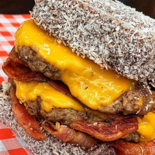 New Year's Resolutions Are A Distant Memory With This Lamington Cheeseburger