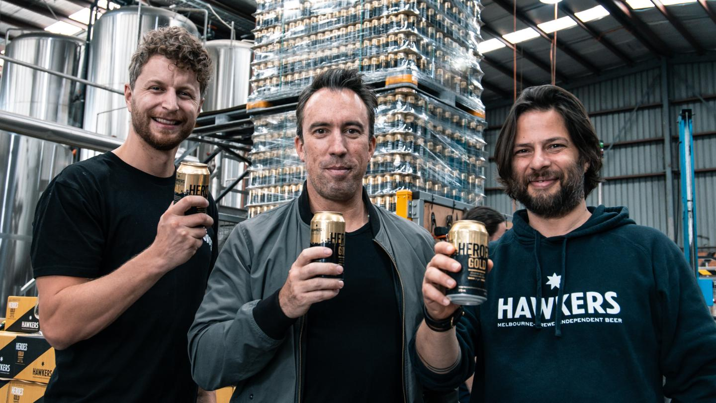 Heroes Gold Beer Being Canned