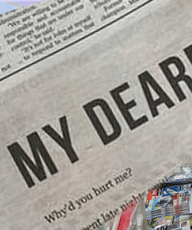 Woman Takes Out HUGE Ad In Australian Newspaper To Break Up With Her Lover!