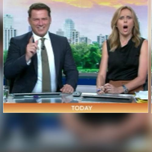 Today's Karl Stefanovic And Allison Langdon Try To Hold It Together Over Blue Joke... Fail