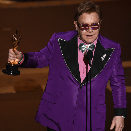 Elton John Accepts His Second Oscar For Rocketman