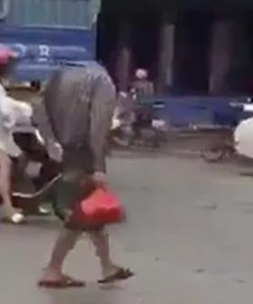 Headless Man Spotted Walking Across Road