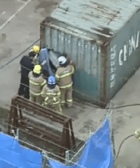 Man Dies In Shipping Container After Being Crushed At Campbellfield Worksite