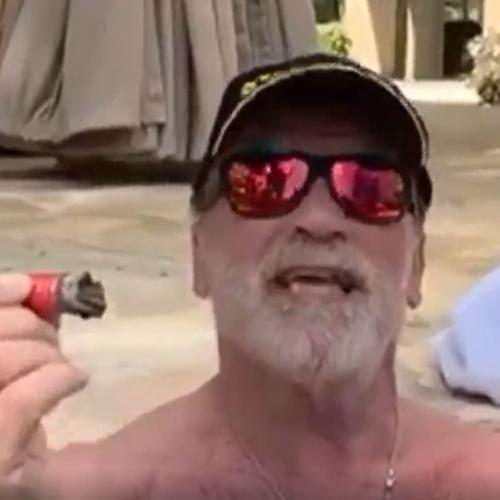 Arnold Schwarzenegger Continues To Give Us All The Positivity We Need (From His Hot Tub)