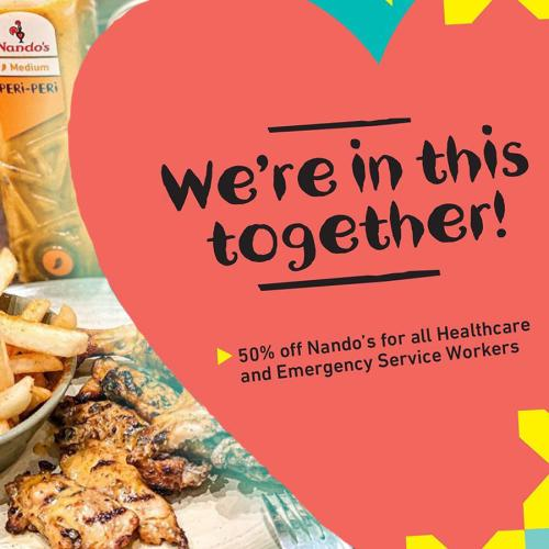 Nandos Have Made An Incredible Gesture To Healthcare & Emergency Service Workers