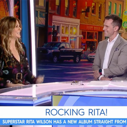 David Campbell & Tracy Grimshaw Are In Quarantine After Rita Wilson Visited The Channel Nine Studios