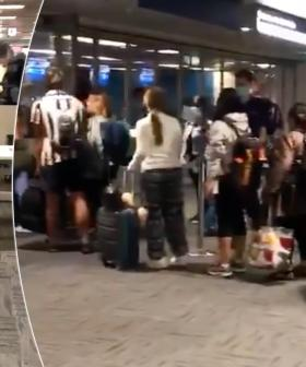 Shocking Footage Shows Crowds Huddled Together At Australian Airport Amid Social Distancing Rules