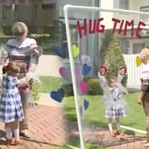 This Family Built A Device So They Can Hug Their Great-Grandmother Amid Coronavirus Pandemic