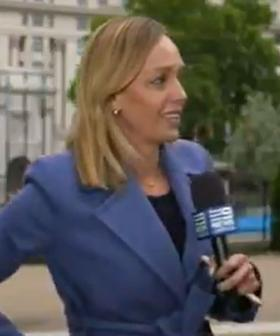 Aussie Reporter Has Terrifying Moment During Live Cross To News Bulletin