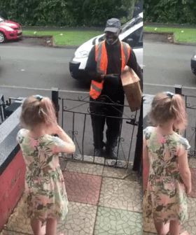 This Little Girl Learnt Sign Language So She Could Greet Her Deaf Delivery Man