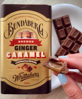 Whittakers Chocolate Are Releasing A Caramel Ginger Beer Block With Bundaberg!