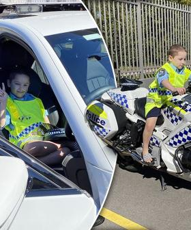 """Terminally-Ill Boy With Just """"Months To Live"""" Lives Out His Police Officer Dreams"""