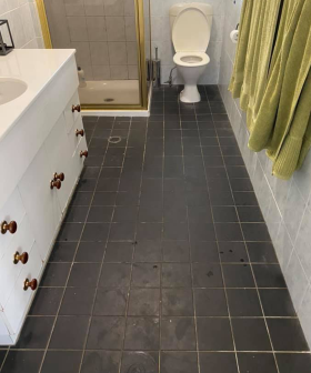 """So Satisfying!"": Mum Transforms Bathroom Floor After Moving Into Rental"