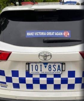 Police Respond To Anti-Dan Andrews Sticker Spotted On Patrol Vehicle