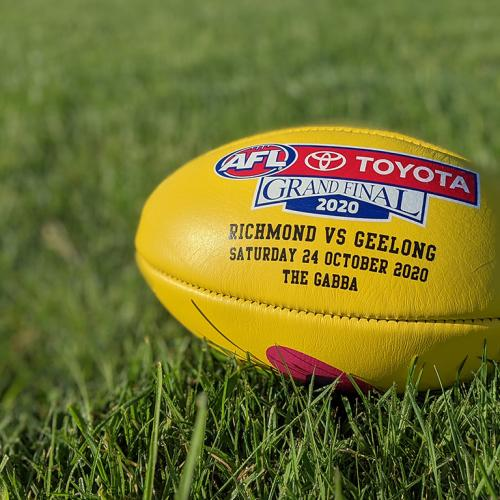 In An AFL First, Sherrin Reveals Its 2020 Toyota AFL Grand Final Game Ball!