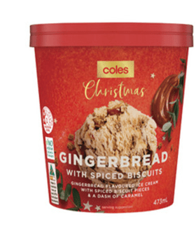 If Things Weren't Festive Enough, Coles Now Has Gingerbread Ice Cream