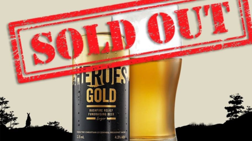 Melbourne Comes Together Again And Sells Out Bushfire Fundraising Beer AGAIN!