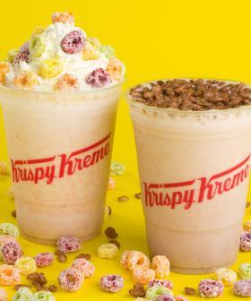 Krispy Kreme's Collab-ing With Kellogg's To Release Froot Loops & Coco Pops Milkshakes