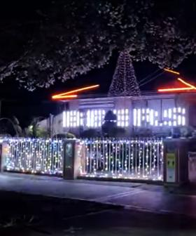 "A Kings Park House Turned Their Christmas Lights Into A Dan Andrews ""Get On The Beers"" Tribute"