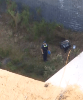 Truck Plunges Several Metres Off Victorian Freeway Causing Major Delays