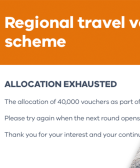 Latest Round of Regional Victoria Travel Vouchers Gone Within 20 Minutes